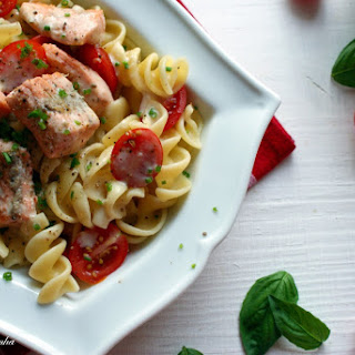 Rotini Pasta with Salmon and Cherry Tomato