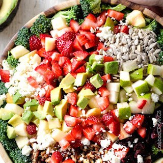 Strawberry Broccoli Salad with Creamy Poppy Seed Dressing