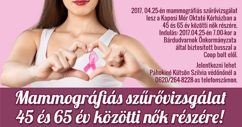 Mammográfiás szűrővizsgálat 2017.04.25