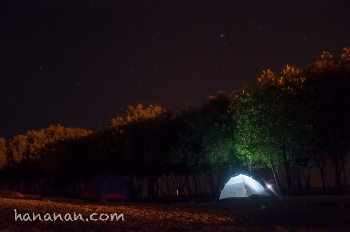 camping di pantai sakura untung jawa