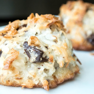Toasted Coconut Chocolate Chunk Macaroons