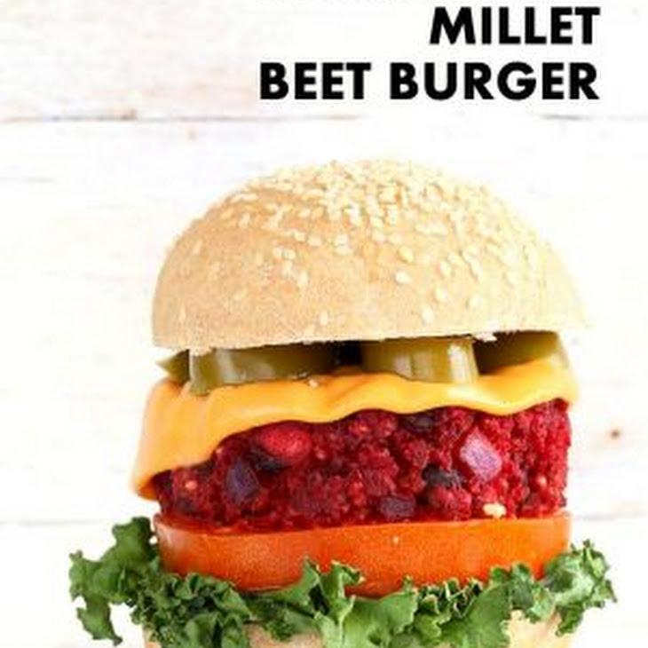 Kidney Bean Millet Beet Burgers