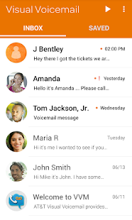 AT&T Visual Voicemail- screenshot thumbnail
