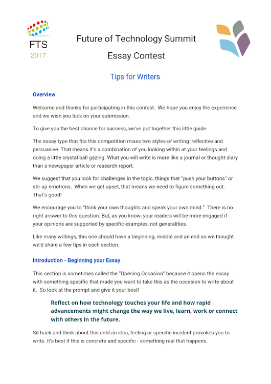 literatu essay competitions google  fts essay contest tips short