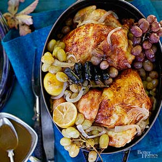 Roasted Chicken with Grapes.