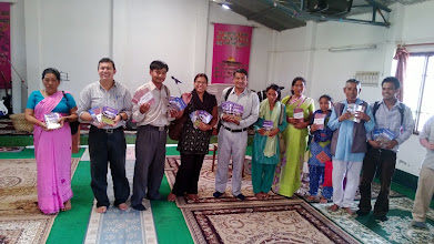 Photo: MTM has partnered with Pastor Anand in recent years to print Christian literature in the Nepalese language. There is little to no Christian literature in Nepal. We have printed more than 60,000 booklets in three titles in Nepal. Here we are freely distributing them at the conference. Two of those titles were on the Christian home ... and that was the subject I was requested to teach on.