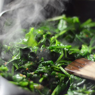 Sautéed Spinach with Bacon and Shallots