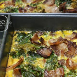 Bacon and Kale Paleo Breakfast Casserole.