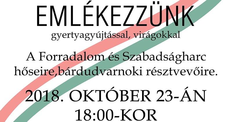 1956-os Forradalom és Szabadságharc megemlékezés 2018.10.23