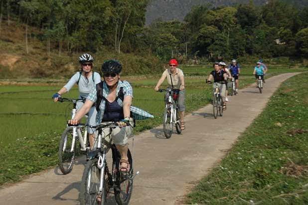 The spectacular North Vietnam biking