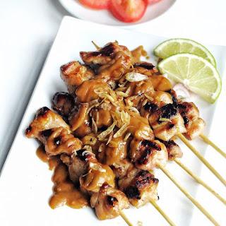 Indonesian Chicken Satay with Spicy Peanut Sauce Recipe