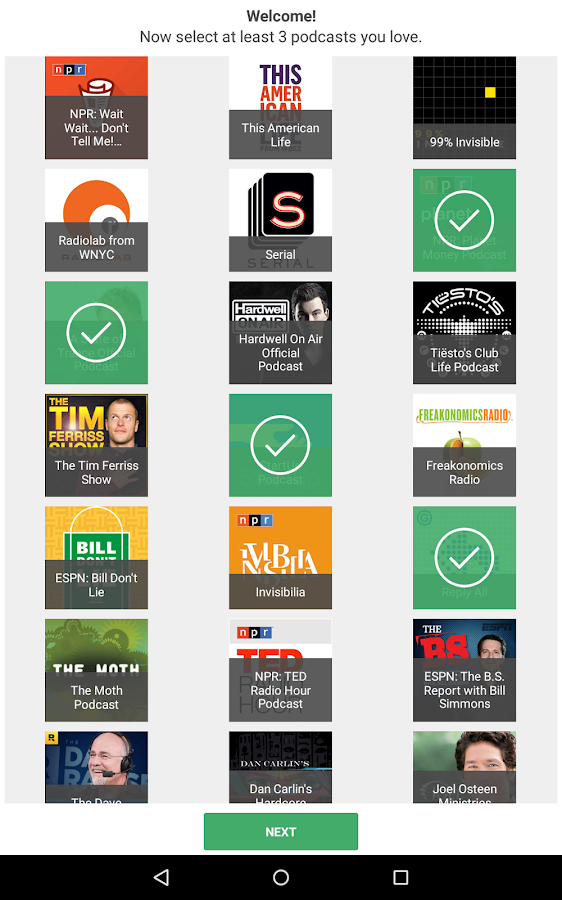 Joyride Podcast Player - screenshot