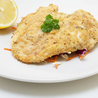 Chicken Schnitzel with Coleslaw