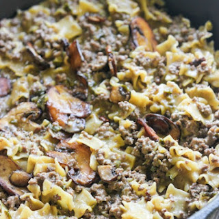 Philly Cheesesteak Style Cheesy Skillet.