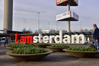 Photo: I amsterdam, no tulips ready yet