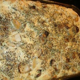 Smoked Garlic Herb Bread Pudding