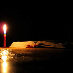 Night Reading by Ad Blessings - Artistic Objects Still Life