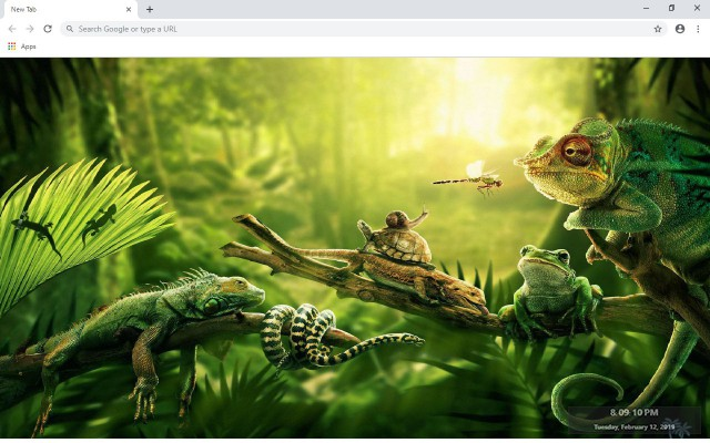Forest And Jungle New Tab Theme