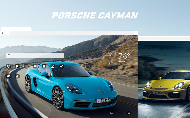Porsche Cayman HD Wallpapers New Tab