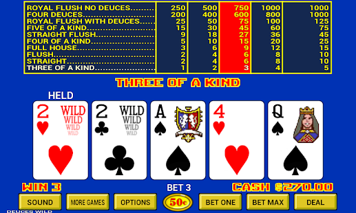 Triple Play Draw Poker by IGT - 9 Video Poker Games in 1