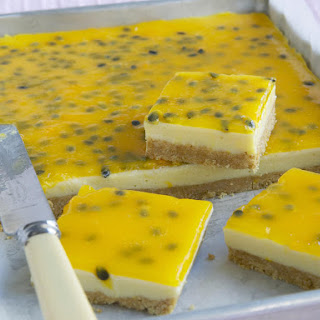 Passionfruit and Lemon Bars.