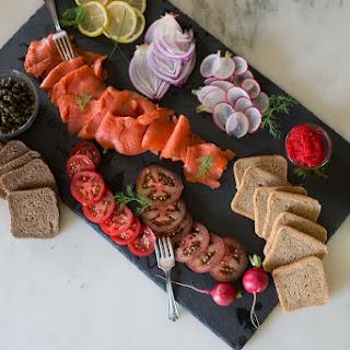 Elegant Smoked Salmon Board