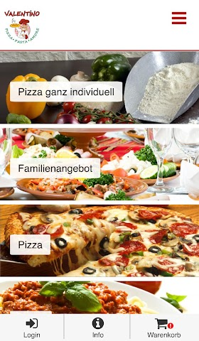 android Pizzeria Valentino Screenshot 1