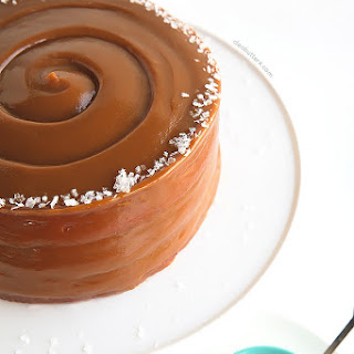 The Perfect Caramel Cake (with sea salt)