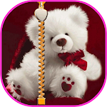 Teddy Bear Zipper Screen Lock Icon