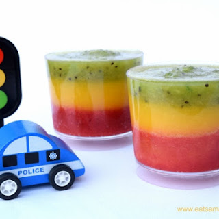 Traffic Light Fruit Smoothies