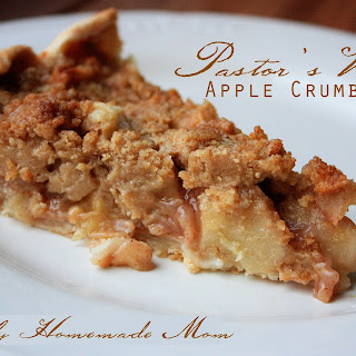 Pastor's Wife Apple Crumb Pie.