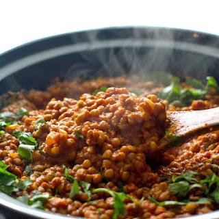 Crockpot Red Lentil Curry.