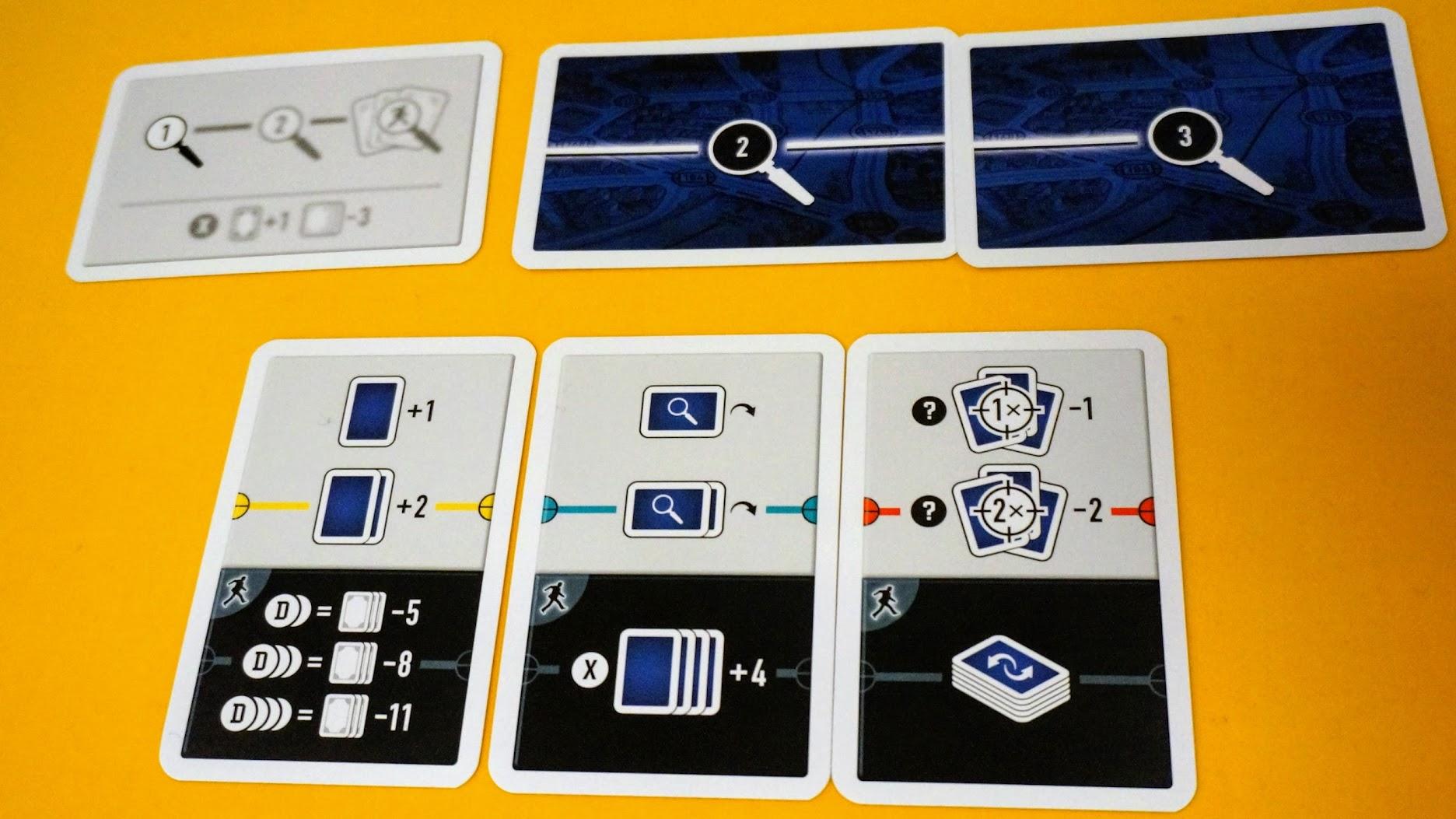 スコットランドヤード:カードゲーム:セットアップ