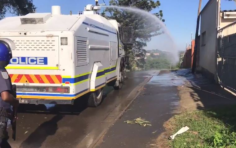 Only one water cannon available to police protests in Gauteng, says MEC - SowetanLIVE