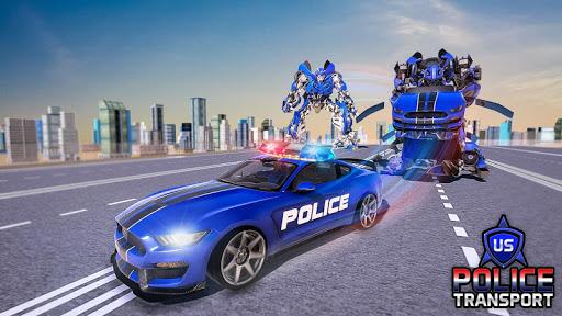 NOUS Police Transformed Robot - Police Avion  captures d'u00e9cran 6