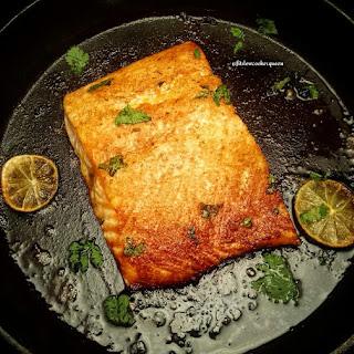 Island Thyme Salmon w/Chickpea Avocado Salad
