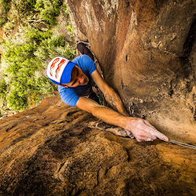 Placing Pro by Ryan Skeers - Sports & Fitness Climbing ( climbing, trad, trad climbing, bacon, pine valley )