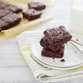 Dark Chocolate Fudgy Brownies.