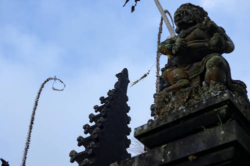 Indonesia. Crafts . Stone Statue at the Bali Besakih Temple