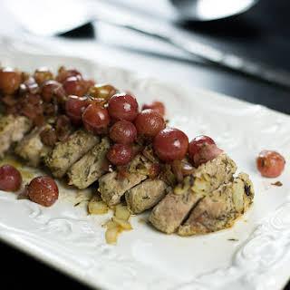 Roasted Pork Tenderloin with Grape Chutney.
