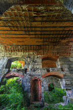 Photo: The wall and arched underside of one the bastions. This is where I slept for two nights.