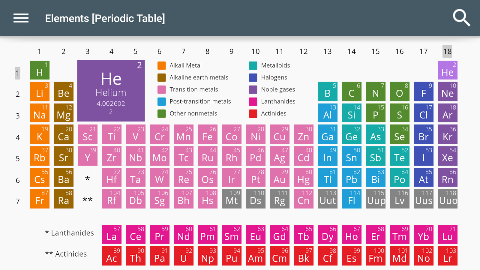 Elements periodic table android apps on google play elements periodic table screenshot gamestrikefo Images