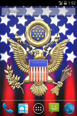 3D USA Coat of Arms & Flag LWP  screenshots 2