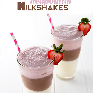 Layered Neapolitan Milkshakes