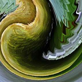 Green waves by Mirjana  Bocina - Abstract Fine Art (  )