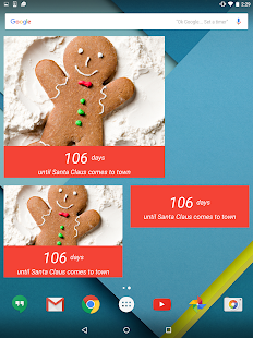 Christmas Countdown Widget- screenshot thumbnail