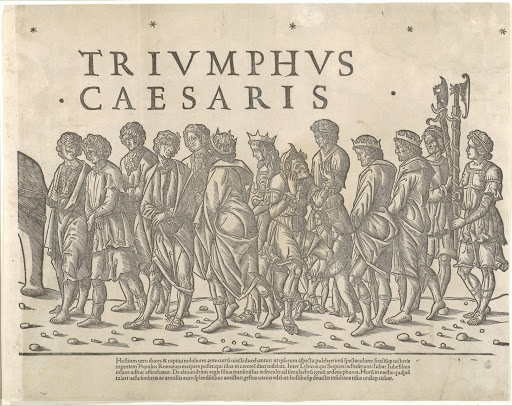 Various figures in procession, from 'The Triumph of Caesar'