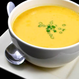 Creamy Asian Root Vegetable Soup.