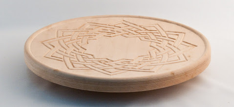 "Photo: Bill Autry - Turned & Carved Celtic Knot Platter - 14"" x 1.5"" - Basswood"