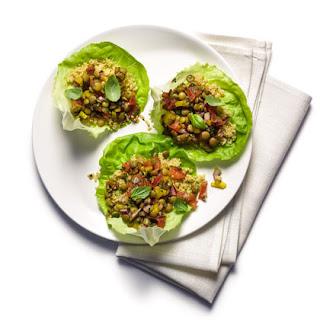 Balsamic Lentil Quinoa Lettuce Cups Recipe